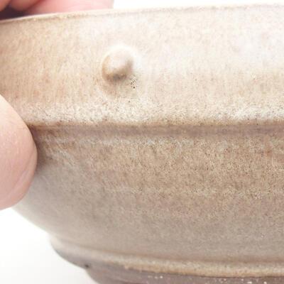 Ceramiczna miska bonsai 17 x 17 x 6,5 cm, kolor brązowy - 2
