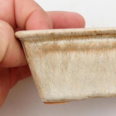 Ceramiczna miska bonsai 2. jakości - 12 x 8 x 4 cm, kolor szary - 2