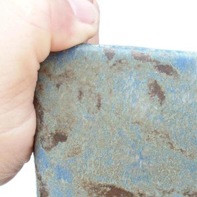 Ceramiczna miska bonsai 2. jakości - 15 x 15 x 19 cm, kolor brązowo-niebieski - 2