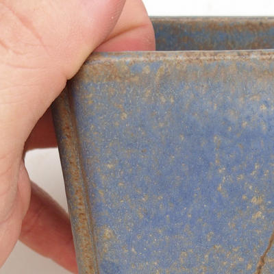 Ceramiczna miska bonsai 2. jakości - 7 x 7 x 5 cm, kolor brązowo-niebieski - 2