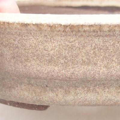 Ceramiczna miska bonsai 18 x 18 x 4,5 cm, kolor beżowy - 2