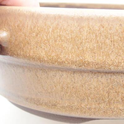 Ceramiczna miska bonsai 17,5 x 17,5 x 5,5 cm, kolor brązowy - 2