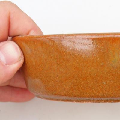 Ceramiczna miska bonsai 2. jakości - 15 x 9 x 4 cm, kolor brązowy - 2