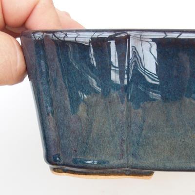 Ceramiczna miska bonsai 2. jakości - 20 x 17 x 7 cm, kolor brązowo-niebieski - 2