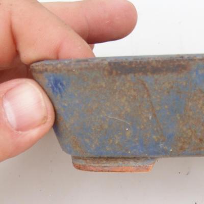 Ceramiczna miska bonsai 2. jakości - 12 x 10 x 4 cm, kolor brązowo-niebieski - 2