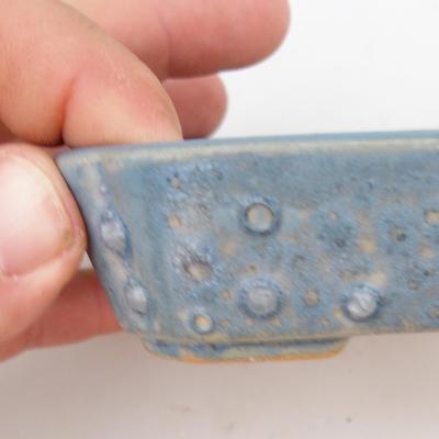Ceramiczna miska bonsai 2. jakości - 12 x 9 x 3 cm, kolor niebieski - 2