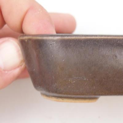 Ceramiczna miska bonsai 2. jakości - 12 x 9 x 3 cm, kolor brązowy - 2