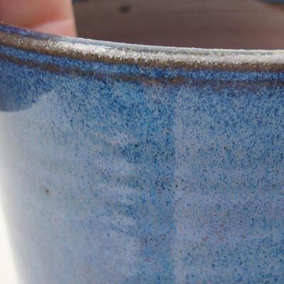 Ceramiczna miska bonsai 10 x 10 x 8,5 cm, kolor niebieski - 2