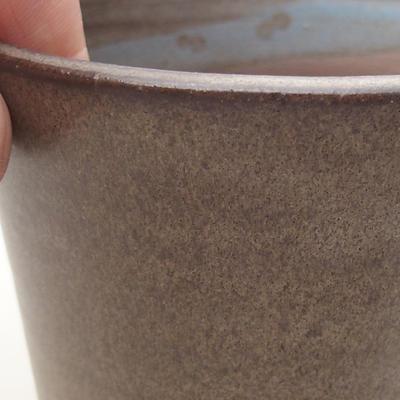 Ceramiczna miska bonsai 9,5 x 9,5 x 8 cm, kolor szary - 2