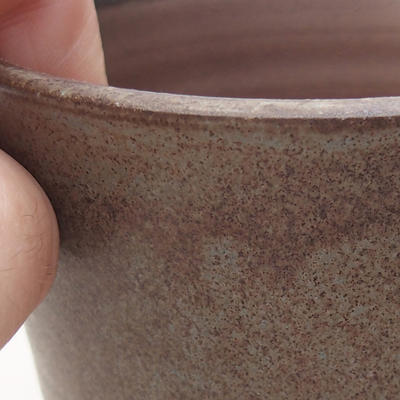 Ceramiczna miska bonsai 9,5 x 9,5 x 9 cm, kolor szary - 2