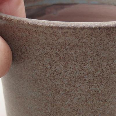 Ceramiczna miska bonsai 9 x 9 x 7 cm, kolor szary - 2