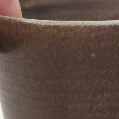Ceramiczna miska bonsai 10 x 10 x 9 cm, kolor brązowy - 2