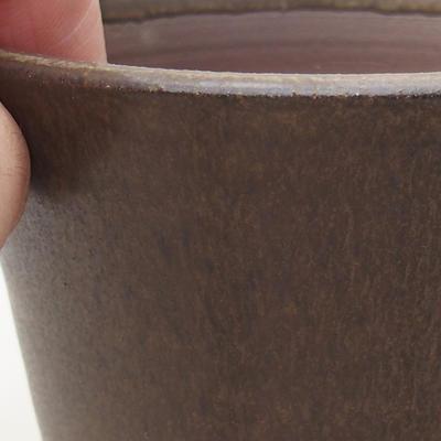 Ceramiczna miska bonsai 9,5 x 9,5 x 8 cm, kolor brązowy - 2