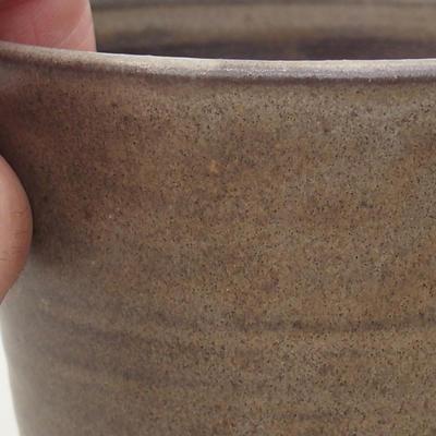 Ceramiczna miska bonsai 9,5 x 9,5 x 8,5 cm, kolor brązowy - 2
