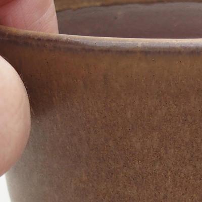 Ceramiczna miska bonsai 10 x 10 x 9,5 cm, kolor brązowy - 2