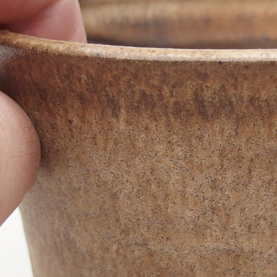 Ceramiczna miska bonsai 9,5 x 9,5 x 9 cm, kolor beżowy - 2