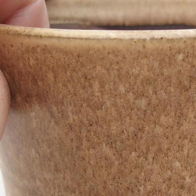 Ceramiczna miska bonsai 9 x 9 x 9 cm, kolor beżowy - 2