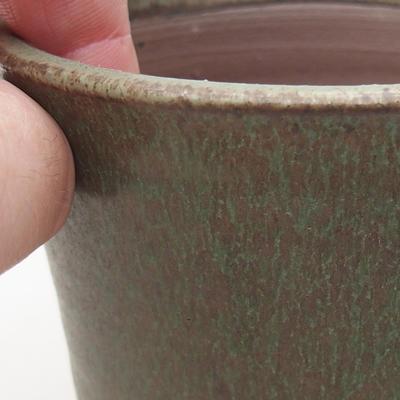 Ceramiczna miska bonsai 9 x 9 x 8,5 cm, kolor zielony - 2