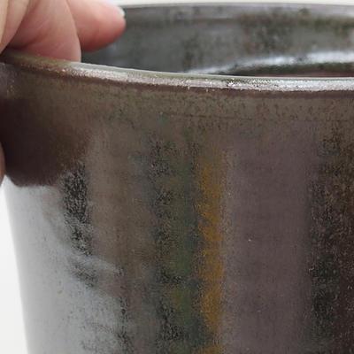 Ceramiczna miska bonsai 14 x 14 x 17,5 cm, kolor zielony - 2