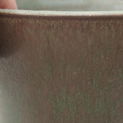 Ceramiczna miska bonsai 15 x 15 x 16 cm, kolor zielony - 2