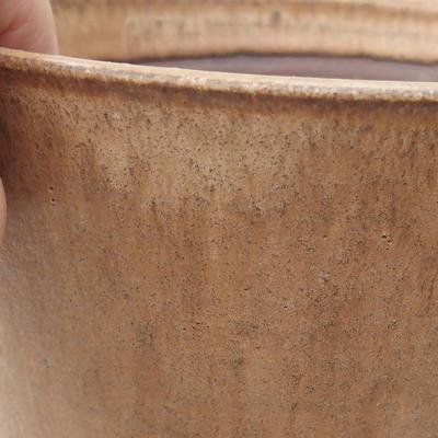 Ceramiczna miska bonsai 15 x 15 x 16 cm, kolor beżowy - 2