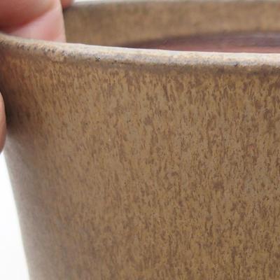 Ceramiczna miska bonsai 15 x 15 x 17,5 cm, kolor brązowy - 2