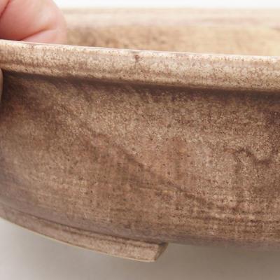 Ceramiczna miska bonsai 28 x 25 x 6 cm, kolor brązowy - 2