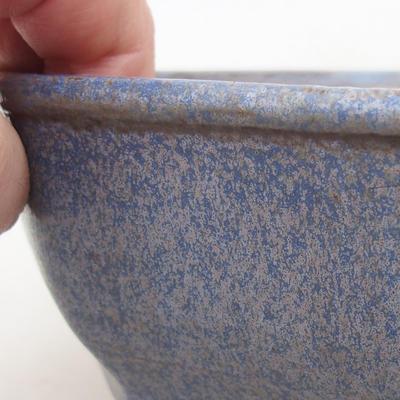 Ceramiczna miska bonsai 15,5 x 15,5 x 6,5 cm, kolor niebieski - 2