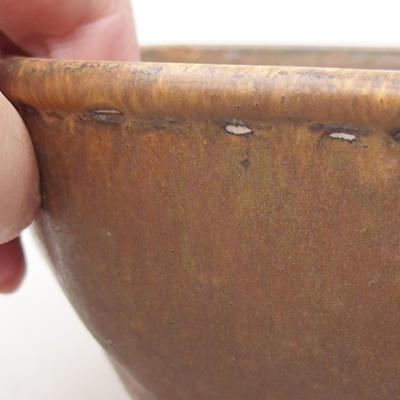 Ceramiczna miska bonsai 15,5 x 15,5 x 6,5 cm, kolor brązowy - 2