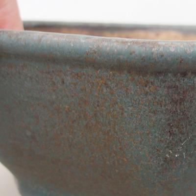 Ceramiczna miska bonsai 15,5 x 15,5 x 6,5 cm, kolor zielony - 2