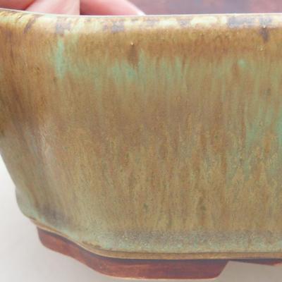 Ceramiczna miska bonsai 20 x 17 x 5,5 cm, kolor zielony - 2