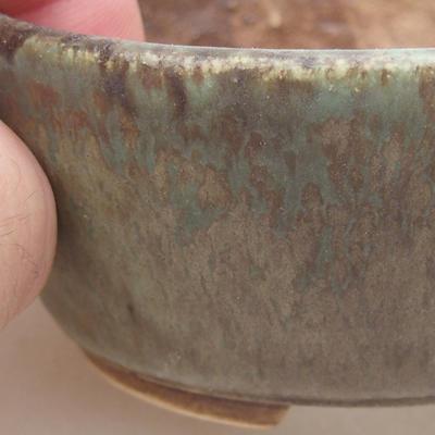 Ceramiczna miska bonsai 7,5 x 6,5 x 3,5 cm, kolor zielony - 2