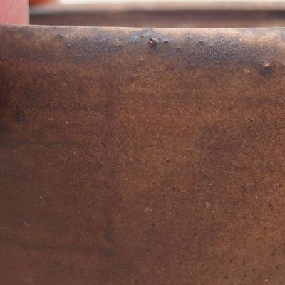 Ceramiczna miska bonsai 7,5 x 6,5 x 3,5 cm, kolor brązowy - 2