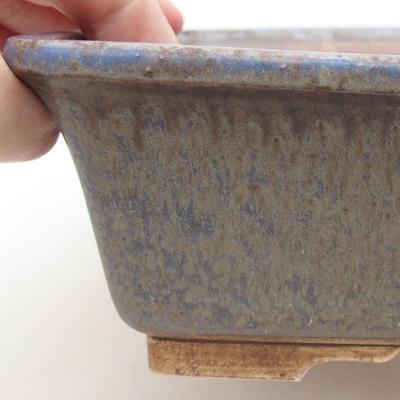 Ceramiczna miska bonsai 20,5 x 16,5 x 6,5 cm, kolor niebieski - 2