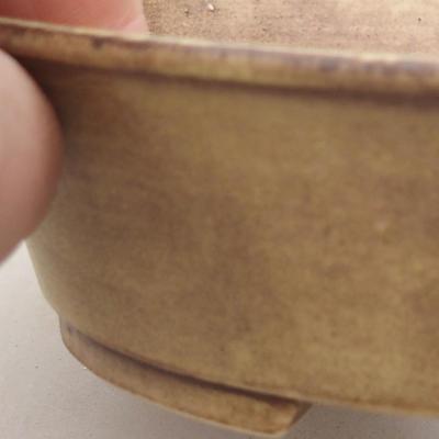Ceramiczna miska bonsai 14 x 12 x 3,5 cm, kolor żółty - 2