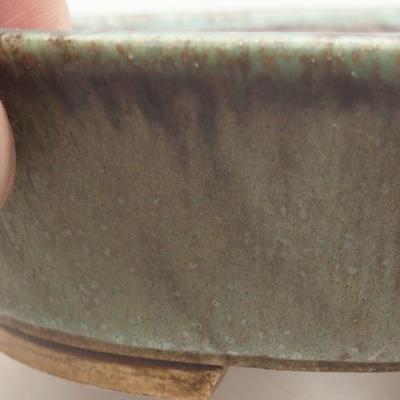 Ceramiczna miska bonsai 14 x 12 x 3,5 cm, kolor zielony - 2