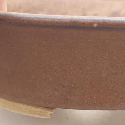 Ceramiczna miska bonsai 14 x 12 x 3,5 cm, kolor brązowy - 2