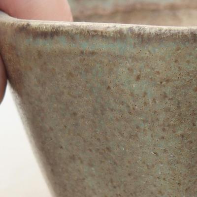 Ceramiczna miska bonsai 8,5 x 8,5 x 5,5 cm, kolor zielony - 2