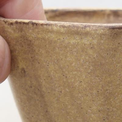 Ceramiczna miska bonsai 8,5 x 8,5 x 5,5 cm, kolor żółty - 2