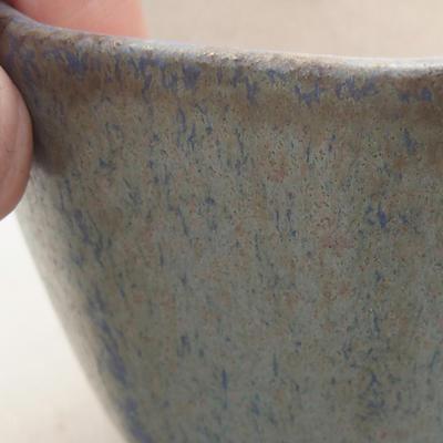 Ceramiczna miska bonsai 8,5 x 8,5 x 5,5 cm, kolor niebieski - 2