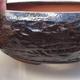 Ceramiczna miska bonsai 15 x 15 x 5,5 cm, kolor brązowy - 2/4