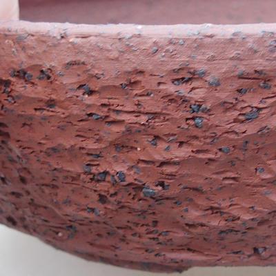 Ceramiczna miska bonsai 17 x 17 x 5,5 cm, kolor szary - 2