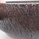 Ceramiczna miska bonsai 18 x 18 x 6 cm, kolor brązowy - 2/4