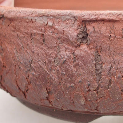 Ceramiczna miska bonsai 17 x 17 x 6 cm, kolor szary - 2