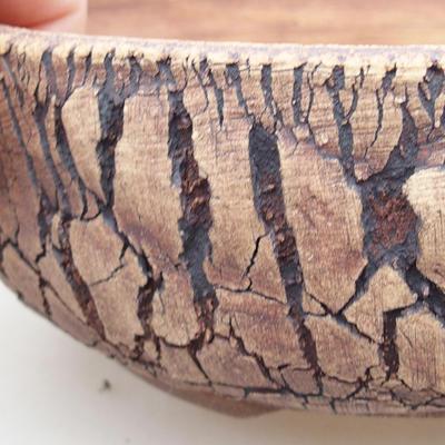 Ceramiczna miska bonsai 20 x 20 x 7 cm, kolor szary - 2