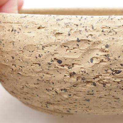 Ceramiczna miska bonsai 15,5 x 15,5 x 5,5 cm, kolor szary - 2