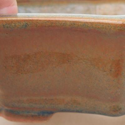 Ceramiczna miska bonsai 14 x 10 x 4,5 cm, kolor brązowy - 2