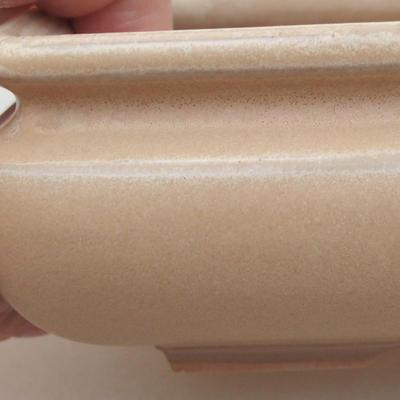 Ceramiczna miska bonsai 15 x 15 x 5,5 cm, kolor beżowy - 2