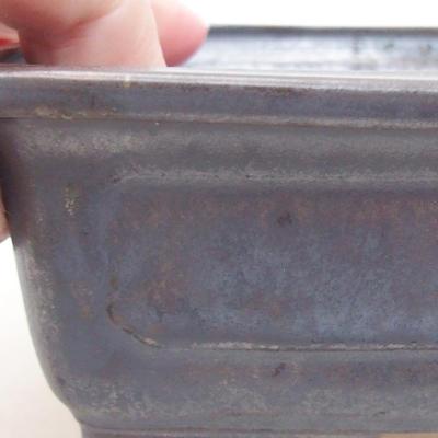 Ceramiczna miska bonsai 16,5 x 11,5 x 5 cm, kolor metalowy - 2
