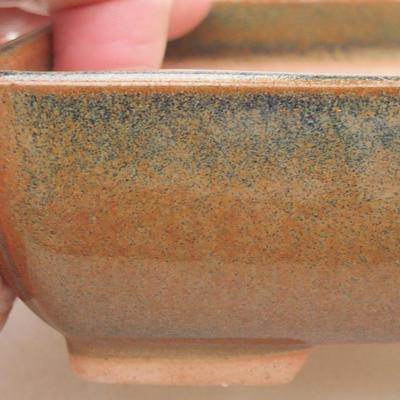 Ceramiczna miska bonsai 13 x 10 x 4 cm, kolor zielony - 2
